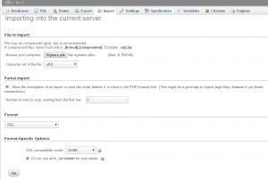 Import bazy danych WordPress