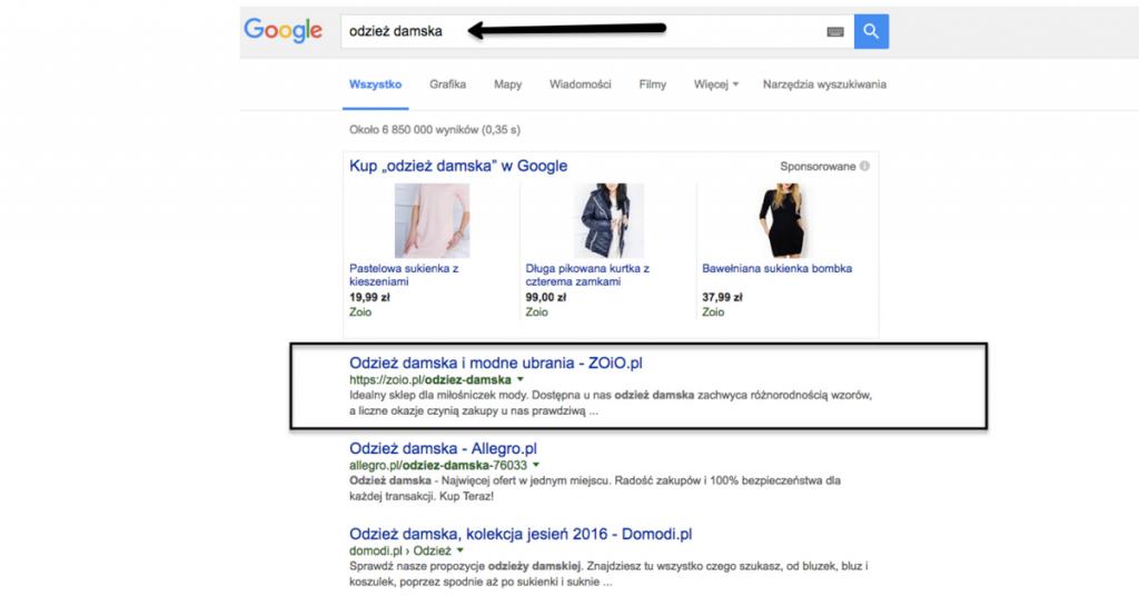 Pozycjonowanie wysoko w Google